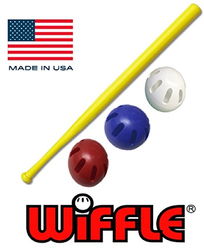 WIFFLE Ball U.S.A Set - 32' Bat with Red, White, and Blue Official...