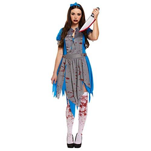Paraguas de papel para disfraz de Halloween Zombie Alicia País de las Maravillas Azul