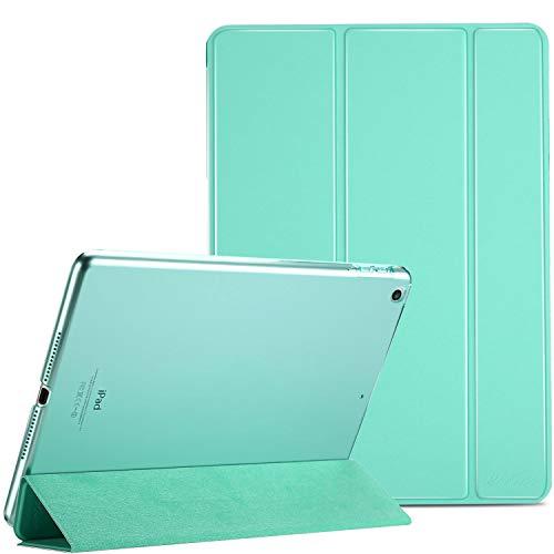 ProHülle Hülle für iPad 9.7 2018 iPad 6 Gen /2017 iPad 5 Gen Schutzhülle Hülle Cover,Dreifach Ultra Dünn Leicht Klapphülle mit Transluzent Rückseite Smart Cover für ipad 9.7 Zoll -Mint