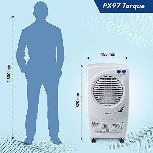 Bajaj Platini PX97 TORQUE 36 Ltrs Room Air Cooler (White)