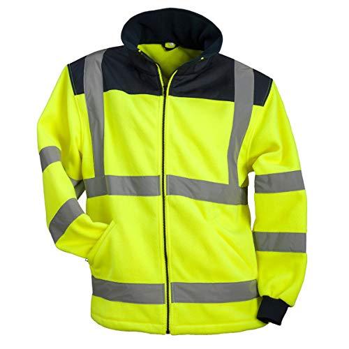 URG Fleece Warnjacke Winterjacke Warnschutzjacke Arbeitsjacke Gelb (POL-HSV-Y) (M)