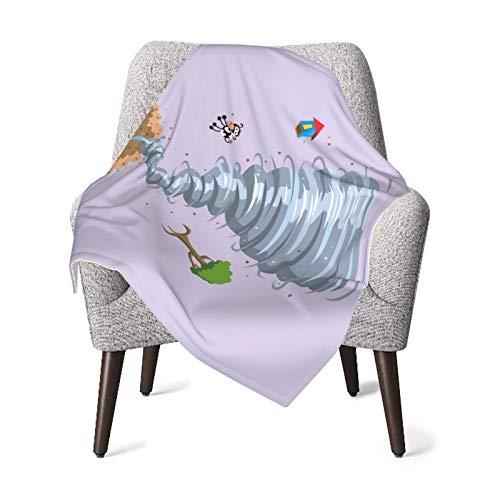 Manta de bebé para niños y niñas, lindos tifones de vaca, manta de bebé, manta de felpa de 76 x 106 cm