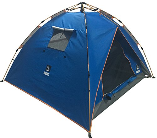OLPRO Outdoor Leisure Products POP Tent 2.1m x 2.1m 2 Berth Pop Up Festival Tent Blue