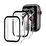 【2枚セット】YOFITAR Apple Watch 用ケース 42mm アップルウォッチ保護ケース ガラスフィルム 一体型 series3 series2 series1 全面保護 超薄型 装着簡単 耐衝撃 高透過率 指紋防止 クリア