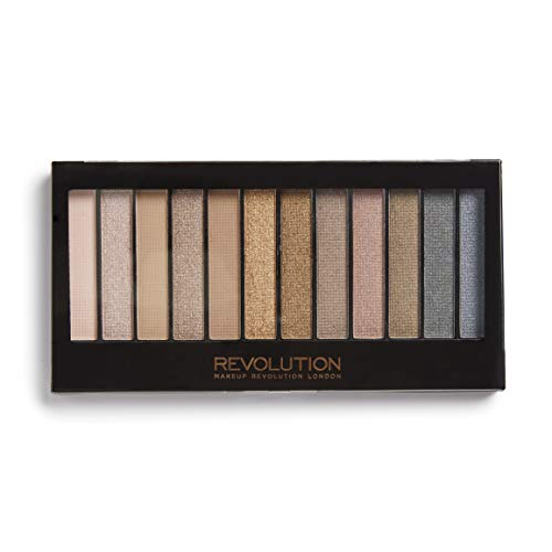 Makeup Revolution, Eye shadow Palette, Nude Eyeshadow Palette, Face Makeup, Iconic 3 Palette by Revolution Beauty