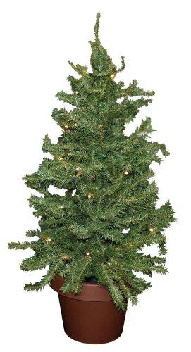Idena 8582019 - Deko Tannenbaum mit 35 LED warm weiß, Batterie betrieben, für Weihnachten, Advent, als Stimmungslicht, Christbaum, ca. 55 cm