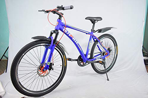 Atlas Ultimate Warship 26 Inches Single Speed Bike for Adults Blue & Green