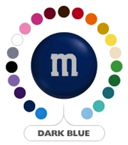 M&M's Dark Blue Milk Chocolate Candy 5LB Bag (Bulk)