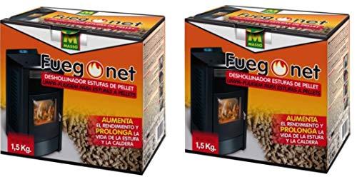 Fuego Net 231296 - Deshollinador Pellets 1,5 kg PACK DE 2 UNIDADES