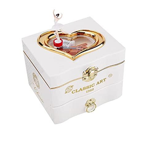 IPOUJ Caja de música de la Caja de música de la Caja de música clásica de la Caja de música de la Caja de la Mano de la Caja de la Mano de la Caja de la Caja del Collar de White