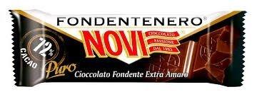 NOVI - 30 BARRETTE CIOCCOLATO FONDENTE Senza Glutine 25 GR.