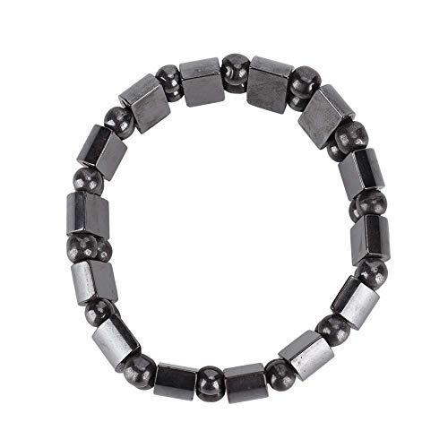 Magnetische armband, Unisex Stijlvolle gezondheidszorg Magnetische zwarte steen therapie armband Afvallen armband Magnetische veldtherapie Cadeau voor ouders Vrienden(Scimitar)