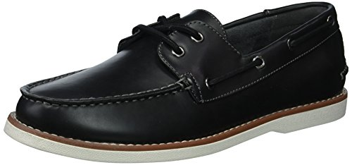 Unlisted by Kenneth Cole Men's Santon Boat Shoe, Black, 7.5 M US