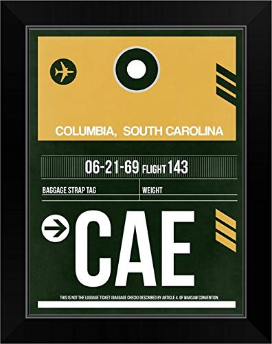 CANVAS ON DEMAND CAE Columbia Luggage Tag II Black Framed Art Print, 15'x19'x1'