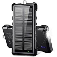 Beartwo 24000mAh Portable Solar Charger with 2 USB Outputs
