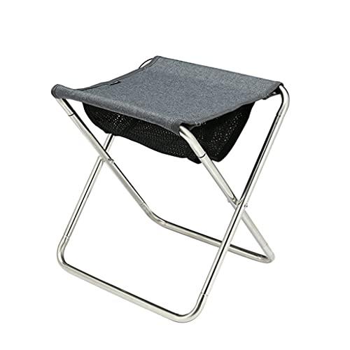 Zanzan, sgabello portatile da esterno, leggero, pieghevole, a forma di X, adatto per persone in varie occasioni (colore grigio)