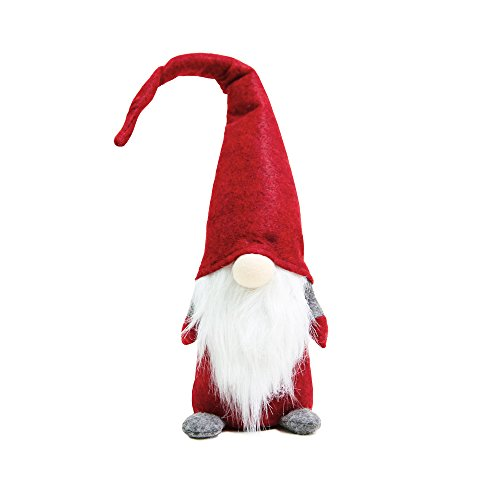 ITOMTE Handmade Swedish Gnome, Scandinavian Tomte, Yule Santa Nisse, Nordic Figurine, Plush Elf Toy, Home Decor, Winter Table Ornament, Christmas Decorations, Holiday Presents - 16 Inches, Red