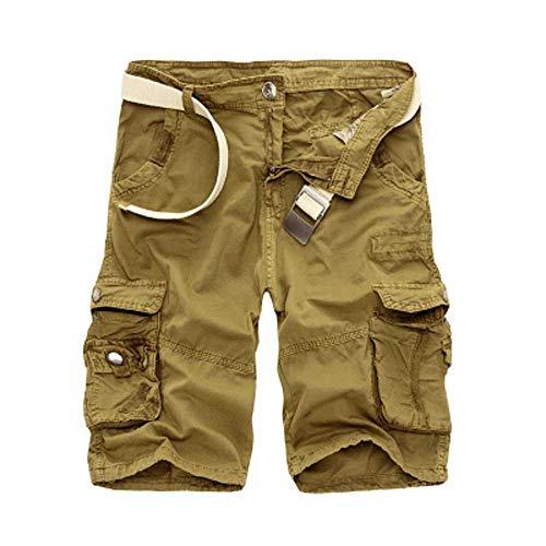 MCSZG Short pour Hommes Militaire Cargo Shorts Army Camouflage Tactical Shorts Hommes Coton Loose Work Casual Pants Plus Size