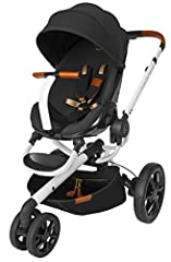 Special Edition: Premium, textured fabrics and tailored styling Unfolds automatically and folds easily. Detachable wheels One hand recline in both forward and rear-facing positions 3 forward-facing and 3 rear-facing positions Adjustable footrest help...
