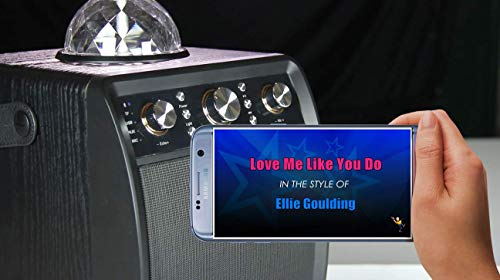 Portable Karaoke Machine & Speaker with Wireless Microphone & Disco Party Light. Mr Entertainer Moonbox
