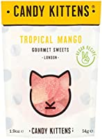 Candy Kittens Tropical Mango Vegan Sweets - Palm Oil Free, Natural Fruit Flavour Candy - Gummy Chewy Gourmet Sweets, 54g...