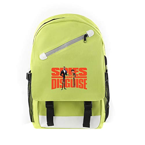 Spies in Disguise Casual Backpack Waterproof Soft Schoolbag Large Capacity Daypack School Backsack for Boys and Girls for Boy and Girl (Color : A18, Size : 28 X 18 X 46cm)