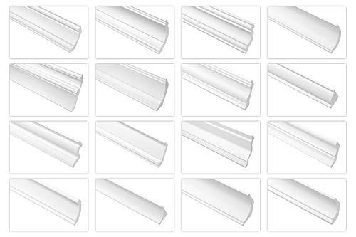 Deckenleisten aus Ecopolymer/HXPS - Stuckleisten weiß, leicht und schlagfest - (CK20-20x20mm) Styropor Kunststoff Decke Deckenabschlussleiste
