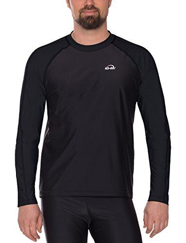iQ-UV Herren UV 300 Shirt Loose Fit LS T, Black, 4XL (60)