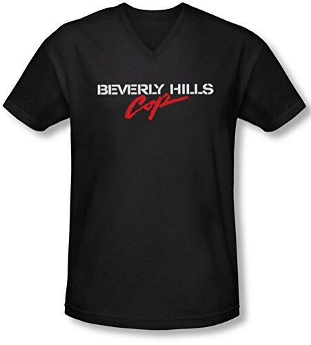 Bhc - Logo V-Neck T-shirt des hommes, Large, Black