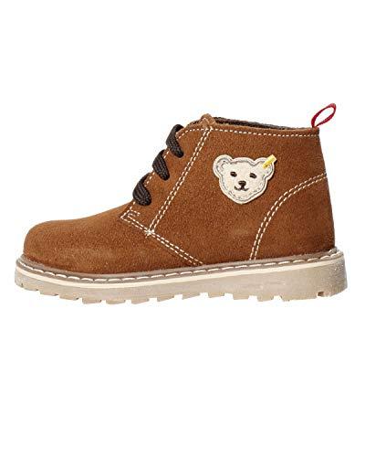 Steiff Knopf im Ohr - Kinder Leder Schuhe für Jungs braun gefüttert Charliee, Farbe:Braun, Größe:EUR 27