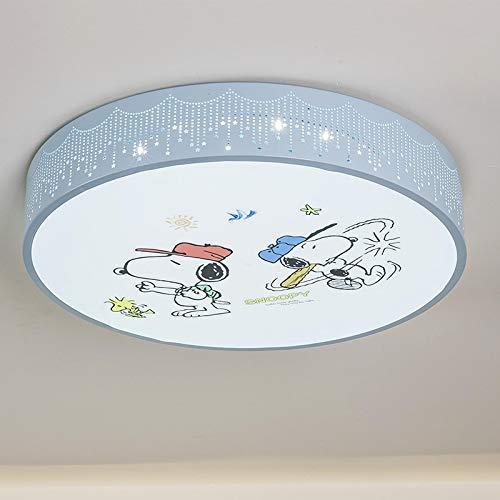 Lámpara De Techo Regulable Con Mando A Distancia Para Habitación Infantil,Plafón De Techo Infantil Cuarto,Lámpara De Dibujos Animados De Dibujos Animados Mickey Mouse Snoopy 50Cm Luz De Tres Tonos