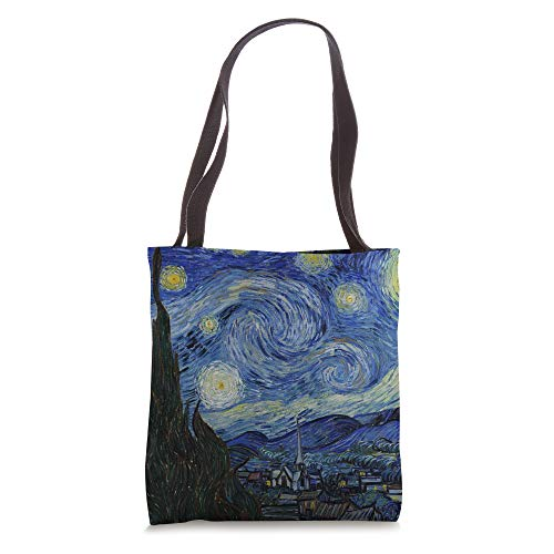 Starry Night by Vincent van Gogh   Famous Painting Tote Bag