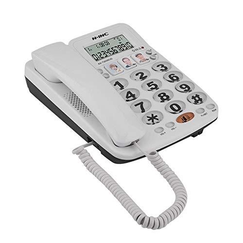 Bewinner Schnurgebundenes Telefon mit Freisprecheinrichtung,Festnetztelefon für Privatanwender/Büro mit Zwei Leitungen/Anruferkennung/klarer Geräusche/Wahlwiederholung