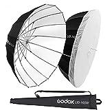 Godox UB UB-165W - Paraguas reflector (165 cm, 165 cm), color blanco y negro