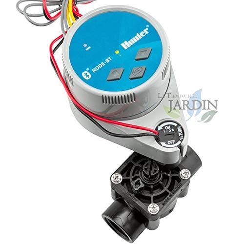 Kit Programador de riego a pilas por bluetooth NODE-BT-100 Hunter + Electroválvula PGV100 9V 1 bateria - Riego Automatico