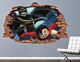WTQang calcomanías de pared Adhesivos de pared de Lego Vengadores Batman vinilo personalizado 3D para niños