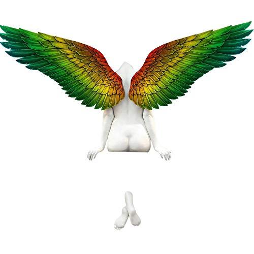 Rpporm Engel Kunst Skulptur Wanddekoration, Hatte Eine Schwester Angel Art Skulptur Wanddeko, Handgefertigte 3D Statue Engel Wings Für Wohnzimmer Schlafzimmer Dekoration...