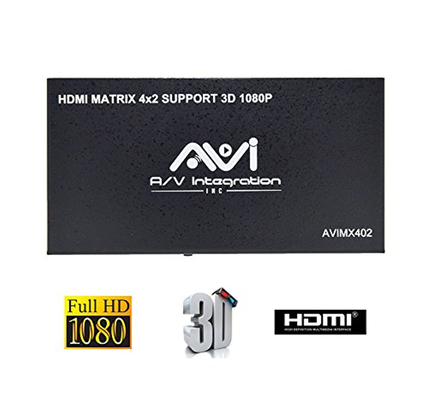 AVISHOP 4x2 HDMI Matrix Switch with Remote Control Support 3D 1080P Any 4 HDMI inputs to Any 2 HDMI Standard outputs