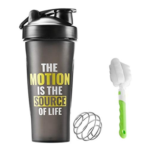 HGCF Protein powder Shaker Bottle,Black