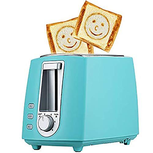 2 Slice Toaster, Tostadora De Pan con Descongelar/Recalentamiento/Cancelar La Función, 6 Ajuste Browning, De Alta Elevación Y Ranuras Anchas