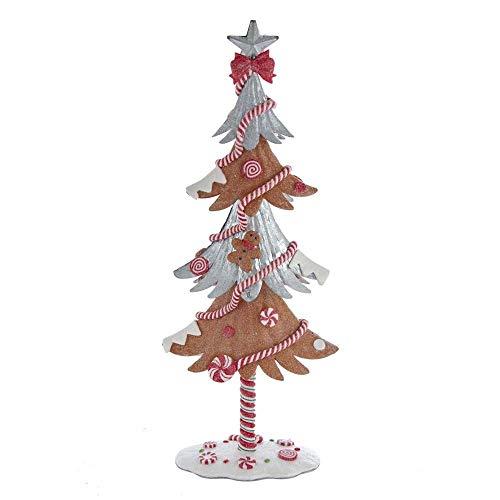 The Bridge Collection Gingerbread & Galvanized Metal Tree Figurine