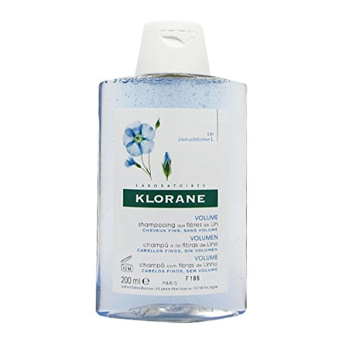 ビル読みやすさソロKlorane Shampoo Flax Fibers Fine Hair 200ml [並行輸入品]