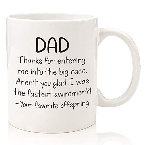 Papa, schnellster Schwimmer Kaffeetasse - Beste Vatertagsgeschenke für Papa - Cooler Knebel Papa Geschenke von Tochter, Sohn, Lieblingskind, Kinder
