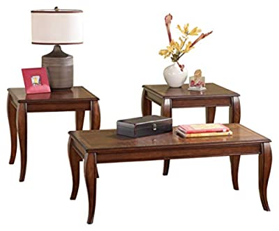 Ashley Furniture Signature Design - Vintelli Traditional 3-Piece Table Set - Includes Cocktail Table & Two End Tables - Metallic Gray