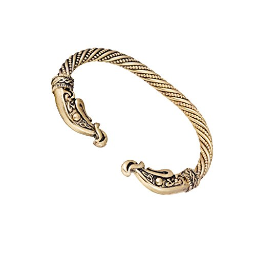 Viking Dragon Screw Nail Punk Charm Knot Bangle Bracelet for Men's Jewelry