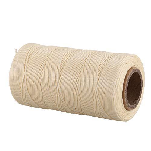 Kaxofang 260M 150D 1MM Costura De Cuero Encerado Cera Hilo De Mano Cable De La Cuerda Craft DIY Color Crema
