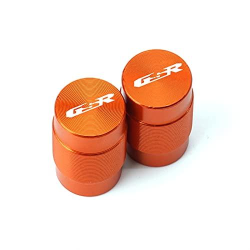 para Suzuki GSR400 GSR600 GSR750 GSR 400600750 Elegante Accesorio Motocicleta Tapas Vástago Válvula Neumático Rueda Cubiertas Herméticas CNC (Color : Naranja)