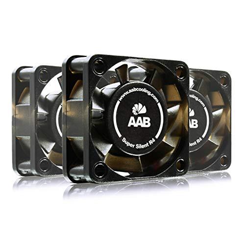AABCOOLING Super Silent R4 - Un Silencioso y Muy Efectivo Ventilador 40mm con 9V Adaptador, Ventilador de Portatil, Fan PC, Ventilador Externo, 7,35 m3/h, 3200 RPM - 3 Piezas 7,9 dB (A)