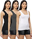 ONE SIZE FIT MOST - The tank tops are designed for most people's body type. Lightweight, breathable ribbed cotton, scoop neck, Straight hem Multi-Purpose Wear, Layering, Maximum Comfort. Buttery Soft, Peachskin Feel, Sleepwear feeling soft. Premium Q...