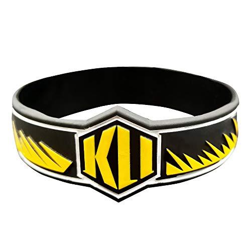 Xlin Basketball-Silikon-Armband Sportarmband Schmuck Geschenk-Basketball-Fans (Color : Yellow)